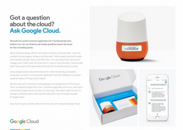 Google: Ask the Cloud [image] Direct marketing by Mullen Boston