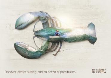 Nova Scotia Tourism: Lobster Print Ad by DDB Toronto
