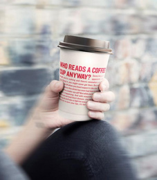 British Heart Foundation/ BHF: When You Least Expect It - Coffee Cup Direct marketing by MullenLowe London