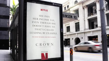 Netflix: You Know The Queen. Now Meet Elizabeth. Outdoor Advert by Havas Worldwide Singapore