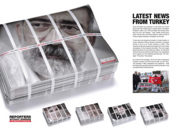 Reporters Without Borders: Latest News From Turkey, 1 Design & Branding by Leo Burnett Frankfurt