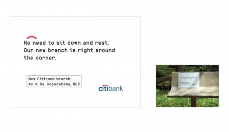 Citibank New Branches: SIT DOWN Outdoor Advert by Fallon Sao Paulo