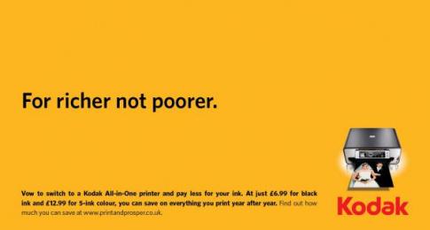 Kodak Inkjet Printers: Royal Wedding, 2 Print Ad by Ogilvy & Mather London, OgilvyAction London, OgilvyOne London