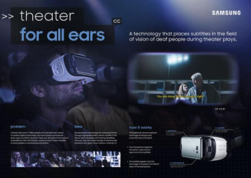 Samsung: Theater For All Ears [image] Digital Advert by Leo Burnett Tailor Made Sao Paulo, Trator Filmes