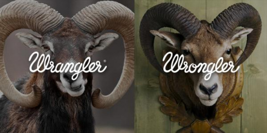 Wrangler: Wrangler vs Wrongler, 8 Print Ad by WE ARE Pi