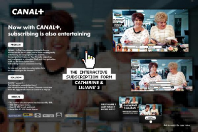 Canal+: The interactive form Digital Advert by BETC
