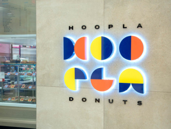 Hoopla Donuts: Hoopla Brand ID, 3 Print Ad by Daughter Creative