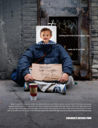Children's Defense Fund: Be Careful What You Cut - Homeless Print Ad by Fallon Minneapolis