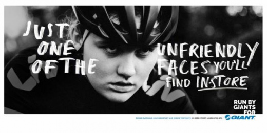 Giant Bicycles: Run By Giants For Giant, 2 Print Ad by Rees Bradley Hepburn (RBH)