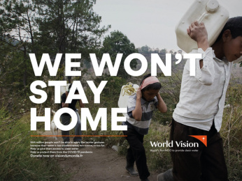 World Vision: We won't stay home, 1 Print Ad by Steve Paris