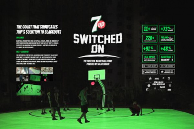 7-up: Switched On [image] Ambient Advert by Impact BBDO Dubai, Swerve Dubai