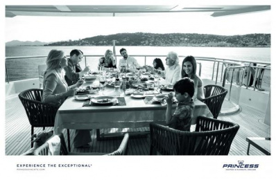 Princess Yachts: Dinners [alternative color spectrum] Print Ad by Bsur Amsterdam