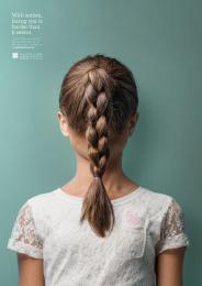 Amena Autism Center: Girl Print Ad by Y&R Amman