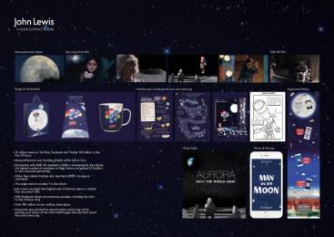 John Lewis: The Man On The Moon [image] Digital Advert by adam&eveDDB London, Manning Gottlieb OMD London, Somesuch & Co