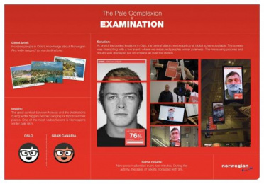 Norwegian Airlines: THE PALE COMPLEXION EXAMINATION Case study by Kitchen Leo Burnett Oslo
