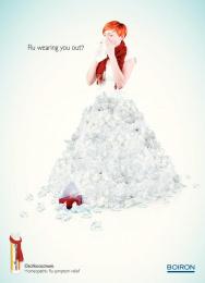 homeopathic flu symptom relief: Flu Wearout Print Ad by Yehoshua\TBWA Tel Aviv