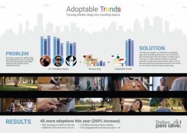 Dallas Pets Alive/ DPA: ADOPTABLE TRENDS [image] Digital Advert by Dieste Harmel & Partners