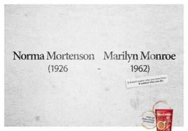 Maccoffee: Marilyn Print Ad by Cheil Kazakhstan