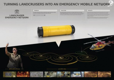 Land Cruiser: Landcruiser Emergency Network [image] Digital Advert by Heckler, Saatchi & Saatchi Sydney