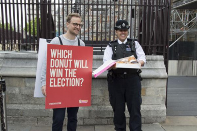 Dunkin Donuts: Which Donut will win the election? 4 Outdoor Advert by The Martin Agency London