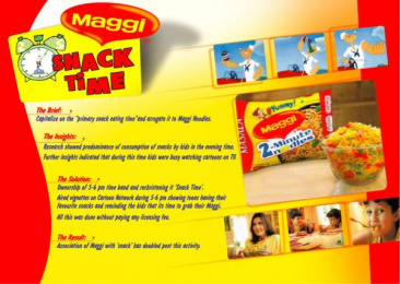Maggi Noodles: MAGGI SNACK TIME Print Ad by Universal McCann New Zealand