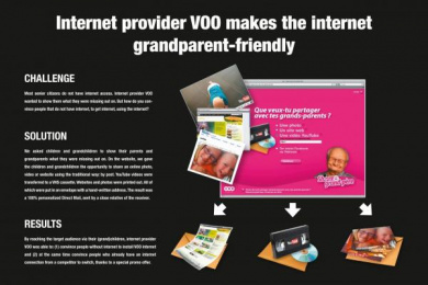 Voo: SHARE AVEC TON GRAND-PÈRE Direct marketing by Boondoggle Brussels