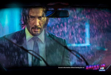 ZAP Cinemas: Drive-In: John Wick Print Ad by Born
