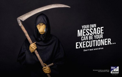 Bluechem: Executioner Print Ad by Salsa Lima