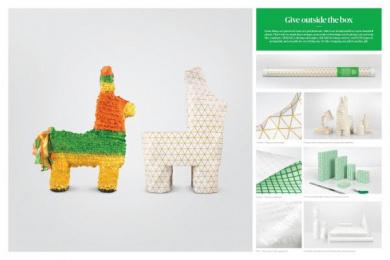 Leo Burnett: Christmas Paper Promo / PR Ad by Leo Burnett Toronto