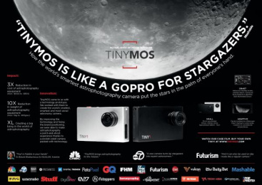Tinymos Astrophotography Camera: Tinymos - The Worlds Smartest Astrophotography Camera [image] Design & Branding by Y&R Singapore