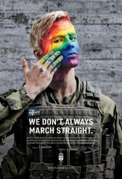 Swedish Armed Forces (SwAF): We Don't Always March Straight, 2 Print Ad by Volt