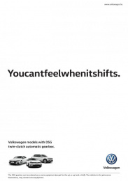 Volkswagen: Youcantfeelwhenitshifts Print Ad by Fastbridge Budapest