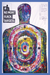New York Society for Ethical Culture: No More Black Targets, 7 Print Ad by Fred & Farid Paris