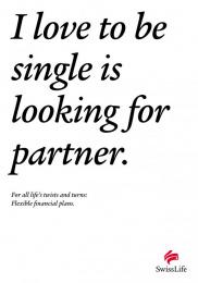 Ubs Swiss Life: SINGLE Print Ad by Leo Burnett Zurich