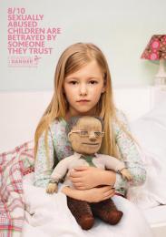 Innocence En Danger: Pedophile Teddy Bears- Neighbour Print Ad by Rosapark Paris, Wanda Productions