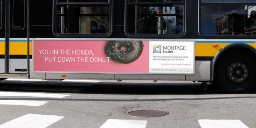 Montage Health: Donut Outdoor Advert by School of Thought