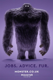 Monster.com: Jobs. Advice. Fur Print Ad by mcgarrybowen London
