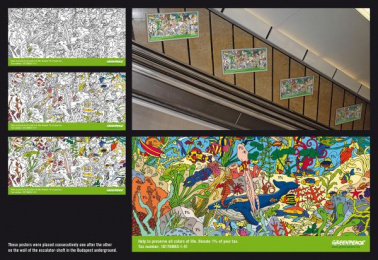 1% Tax Donation: PAINT BY NUMBERS Print Ad by DDB Budapest