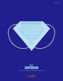 Quick Fox Design: Superhero, 2 Digital Advert by Quick Fox Design