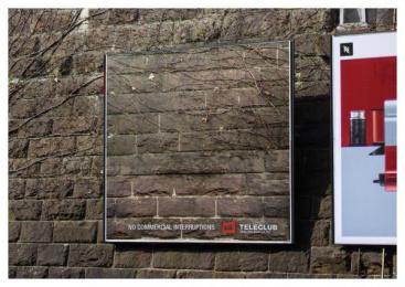 Teleclub: Interruptions, 1 Outdoor Advert by Advico Y&R Zurich