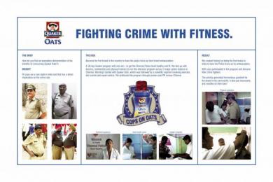 Quaker Oats: COPS ON OATS Promo / PR Ad by BBDO Mumbai