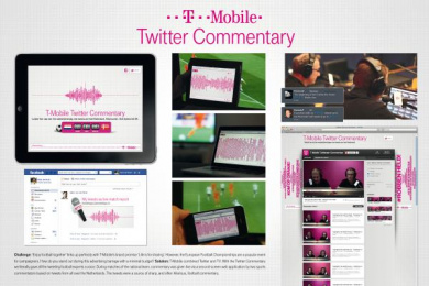 T-Mobile: TWITTER COMMENTARY Promo / PR Ad by Etcetera Amsterdam