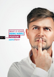 Herpotherm: What is your hiding herpes position?, 1 Outdoor Advert by Addict
