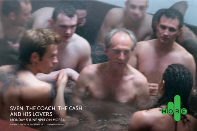 Sven: The Coach, The Cash And His Lovers Tv Programme: SVEN BATH Print Ad by 4creative