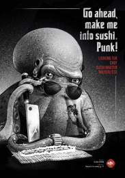 Mai Sushi: Sea Gangsters, 2 Print Ad by Not Perfect | Y&R Vilnius