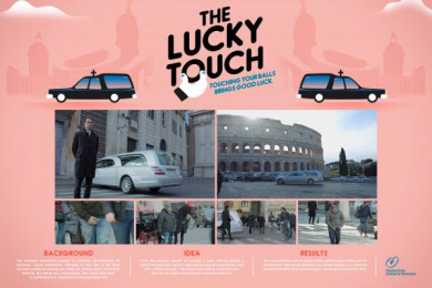 Fondazione Veronesi: The Lucky Touch Ambient Advert by McCann Rome