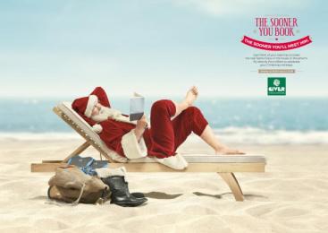 Giver Viaggi: Sun-Ta Claus Print Ad by TRUE COMPANY
