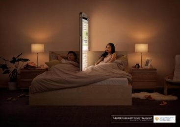 CENTER FOR PSYCHOLOGICAL RESEARCH, SHENYANG: CENTER FOR PSYCHOLOGICAL RESEARCH, SHENYANG PHONE WALL CAMPAIGN - BEDROOM Print Ad by Ogilvy & Mather Beijing