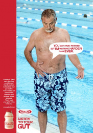 Yakult: Pool Print Ad by Euro Rscg London