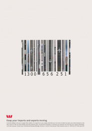 Westpac Choice Account: Bar code Print Ad by Lavender*